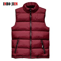 padded vests men Canada - Mens Jacket Sleeveless Vest Winter Fashion Casual Slim Coats Brand Clothing Cotton-Padded Men's Vests Men Waistcoat Big Size 8XL