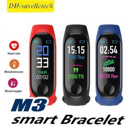 $enCountryForm.capitalKeyWord Australia - M3 Smart Bracelet Fitness Tracker with Heart Rate Watches for MI3 Fitbit XIAOMI APPLE Watch Colorful LCD Display with Retail Box