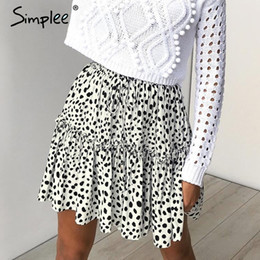 Skirt pluS SizeS online shopping - e Sexy Leopard Print Women Short Skirt Elastic High Waist Pleated Mini Skirts Summer Style Soft Plus Size Female Skirts