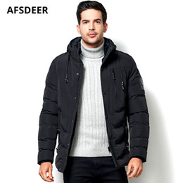 mens warm fleece jacket Canada - 2018 Fashion Mens Winter Jacket and Coat Thick Fleece Warm Windproof Outerwear Casual Hooded Cotton Padded Men Parka Clothes 5XL