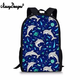 $enCountryForm.capitalKeyWord NZ - Cute 3D Dolphins in Space School Bags Laptop Backpack for Girls Primary Children Kids Book Bags Fashion Junior Bagpacks Mochila