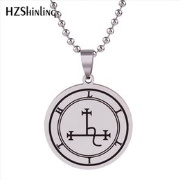 $enCountryForm.capitalKeyWord NZ - 2019 New Stainless Steel Pendant Necklace Sigil Of Lilith Pendants Fashion Silver Chain Men's Symbol of Lilith Seal Jewelry HZ7