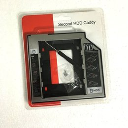 Wholesale by dhl or ems Universal Aluminum Plastic for DVD CD ROM nd HDD Caddy mm mm SATA for quot SSD Case