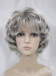 $enCountryForm.capitalKeyWord Australia - Hot! Ladies fashion Curly Grey mixed Natural Hair Women's full Wigs for women wig Free deliver