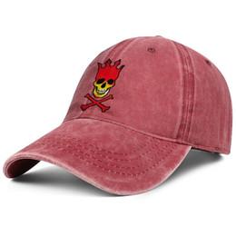 Cool Skull Caps For Men Australia - Pearl jam skull cd cover red denim hat for men and women denim cap trucker cap baseball cool designer youth hats