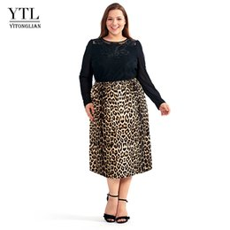 leopard skirt plus size Australia - Vintage Plus Size Skirts For Women 4xl 5xl 6xl 8xl Leopard Printing Comfortable Casual High Tail Straight Stretch Long Rock H123 Y19071501