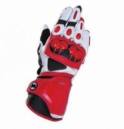 Leather Gloves Long Finger Men Australia - Genuine Leather PRO Motorcycle Long Gloves Racing Driving Motorbike Protective Full Finger Gloves