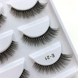 $enCountryForm.capitalKeyWord NZ - 28 models of the E series 5pairs set False EyeLashes 5 Pairs 3D Natural Long Fake Eyelashes Handmade Makeup Tools Accessories E21