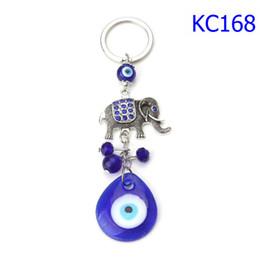 Evil Eye Car Pendant Australia - 42 Styles Blue Evil Eye Cartoon Elephant Keychains Life Tree Pendants Unisex Fashion Accessories Blue Eyes Car Keychains KC168