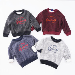 Top halloween cosTumes for kids online shopping - Kids Fall costumes boutique sweatshirts crew neck tops t shirt for Boys toddler sweatshirts child christmas products children clothing Sale