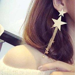 $enCountryForm.capitalKeyWord Australia - Stainless Steel Needle Long Dangle Earrings for Women Jewelry Alloy Gold Heart Female Tassel Earrings