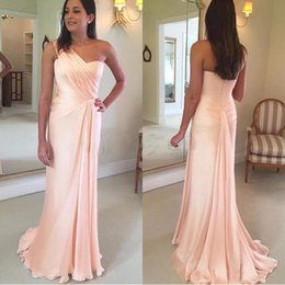 $enCountryForm.capitalKeyWord Australia - Gorgeous One Shoulder Mermaid Ruched Chiffon Evening Dresses Beautiful Cocktail Pageant Gowns Custom Made Evening Dresses