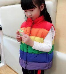 Zipped vest online shopping - Boys and girls Rainbow zip