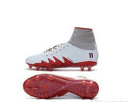 gold hypervenom boots NZ - Jr Neymar Hypervenom Phantom Ii Soccer Cleats Original White Red Mercurial Soccer Shoes Superfly Fg Football Boots Cr7 Soccer Cleats