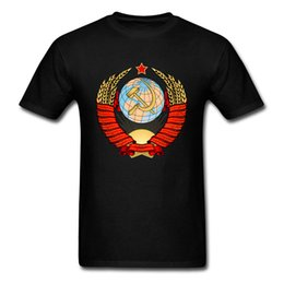 Wholesale global clothes for sale – custom Men CCCP Tshirt USSR Soviet T Shirt I Love Russia T shirt Global Space X Program Retro Tops Tees Cool Father Day Clothes
