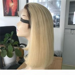 cheap ombre full lace wigs Canada - A Cheap Ombre Wigs 4 613 #Short Bob Wig Lace Front Wigs Human Hair Lace Front Wigs For Black Women