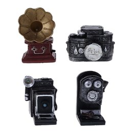 $enCountryForm.capitalKeyWord Australia - Baby Photography Props Retro Vintage Decoration Mini Small Simulation Phonograph Telephone Camera Photo Shot Newborn Memorial