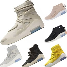 Fog Box NZ - With DHL & Box & Bag 2019 Shoe King FOG 1 Genuine Leather Mid Sports Boots Fear of God 1 Built in AirCushion Outdoors Boots
