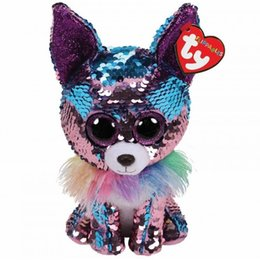 Dolls & Stuffed Toys Sporting Ty Flippables Beanie Boos Slush The Husky Big Glitter Blue Eyes 15cm Plush Stuffed Animals Doll Toys Collection Christmas Gift Toys & Hobbies