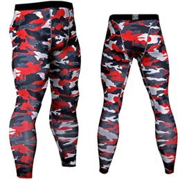 camouflage tights leggings UK - Cool Camouflage Running Pants Skinny Tights High Elastic Leggings Cycling Workout Gym Pants Full Length Plus Size Trousers