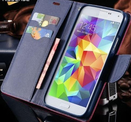 Phone Case For Samsung S5 Australia - Flip Leather Case For Samsung Galaxy S5 I9600 Fashion Stand Wallet Pouch Style Cover Phone Cases For Samsung S5 Coque
