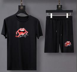 G Cartoons Australia - new shorts suit g & G sports suit medusa Mens Cattle horse deer Cartoon print top hiphop set drake bbc t-shirt +pants 100% Cotton suit pr