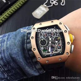 Luxury Display Cases NZ - Hot sale Luxury 11-03 Watch Rose Gold Case Oversize Date Display Automatic Sapphire Crystal Rubber Strap Luminous Sport Mens Watch
