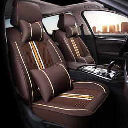 $enCountryForm.capitalKeyWord Australia - Car seat cover four seasons universal for Toyota RAV4 Corolla Vios to all-inclusive summer Mixed colors ice silk cushion covers
