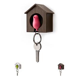 $enCountryForm.capitalKeyWord Australia - Creative Bird Nest Sparrow House Key Chain Ring Wall Hook