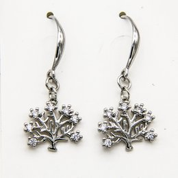 $enCountryForm.capitalKeyWord Australia - Boutique White Gold Plated Copper Zircon Drop Charm Hook Earrings Heart Tree Cross Wedding Bridal Jewelry Gifts for Women Girls Wholesale