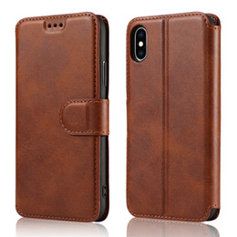 $enCountryForm.capitalKeyWord Australia - For iphone XR XS X 8 Plus Luxury Leather Wallet Flip Phone Case TPU Matte Cover With Card Slots Photo Frame Phone Holder