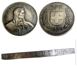 Copy Coins Wholesalers Australia - Switzerland (Confederation) 1950 Silver 5 Francs (5 Franken) Copy Coin diameter:31.45mm Wholesale