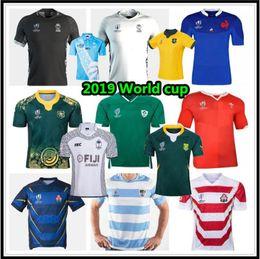 Venta al por mayor de 2019 Fiji Jersey de rugby camisa nueva Zelanda 19 20 Japón África Copa del Mundo de Australia Gales del Sur Argentina Samoa Rugby Jersey s-3xl