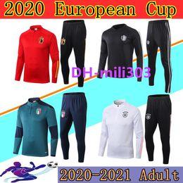 Venta al por mayor de Nuevo euro 2020 Italia Bélgica chándal de fútbol equipo nacional hombres Italy Belgium Germany soccer tracksuit 2020 2021 Alemania chandal futbol traje de entrenamiento trotar