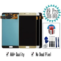 "$enCountryForm.capitalKeyWord Australia - 6.0"" OLED A910F LCD For SAMSUNG GALAXY A9 Pro 2016 A910 LCD Display A9100 Touch Screen Tested Digitizer Assembly"