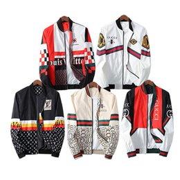 Wholesale mens nylon bomber jacket for sale – winter 2020 Jacket White men luxury designer winter Bomber jacket flight pilot Jacket windbreaker oversize outerwear casual coats mens clothing top