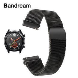 $enCountryForm.capitalKeyWord Australia - Milanese Loop Stainless Steel Watchband For Huawei Watch Gt Magnetic Buckle Band Quick Release Metal Strap Sports Wrist Bracelet T190620