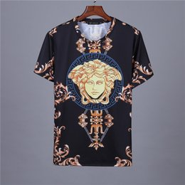 Medusa T Shirts Australia - 5 PSC Free DHL Offer Men Designer T-shirts short sleeve T-shirt Italy Brand T-shirts Classic Luxury Embroidery fashion Letter Medusa t-shirt