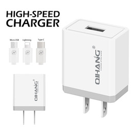 Phone Types Australia - QIHANG-Z02 5V 2.4A mobile phone charger usb charger with 1 meter MICRO TYPE-C LIGHTNING usb cable,safe and fast usb charger
