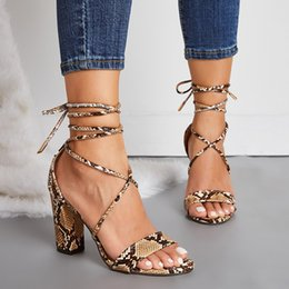 $enCountryForm.capitalKeyWord UK - Alluring2019 42 Reach 35 Will Code Foot Ring Chalaza Coarse With Leopard Print Spelling Color High-heeled Shoes Sandals 922-2