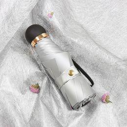 $enCountryForm.capitalKeyWord Australia - Mini Umbrella Pocket Portable Travel Umbrellas 8K Titanium Silver Coating Anti-UV Waterproof 8K Small Fold Umbrella Rain Women