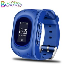 safety gps tracker UK - 2018BANGWEI GPS Tracker Kids Smart Watch for Children Safety SOS Call Location Finder with SIM card Slot for iOS and Android