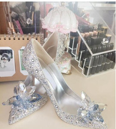 $enCountryForm.capitalKeyWord Australia - Bridal shoes bridesmaid shoes Europe and the stars with the crystal rhinestones high heels Europe and the new Cinderella diamonds wedding sh