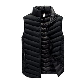 $enCountryForm.capitalKeyWord UK - High Quality Black Men Vest 2019 Winter Male Waistcoat Slim Fit Sleeveless Jacket Casual Vest Man Plus Size L-4XL Drop Shipping