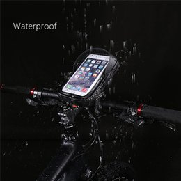 $enCountryForm.capitalKeyWord Australia - Waterproof 6 inch Bike phone bag Bicycle Mobile Phone Holder Stand Motorcycle Handlebar Mount Bag Bike Accessories phone pocket