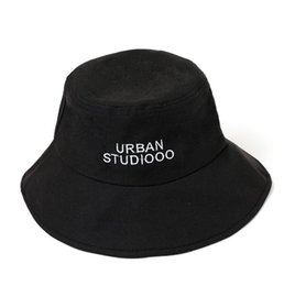 7de6087be52081 Fisherman Rain Hat UK - Cotton Letter embroidery Bucket Hat Fisherman Hat  outdoor travel hat Sun