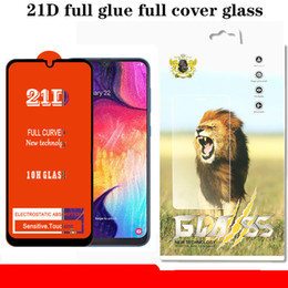 $enCountryForm.capitalKeyWord Australia - 21D Full Glue Cover Clear Tempered Glass Film Screen Protector Guard For Samsung A40S A6S A8S A9S A20E J2 J4 Core A9 Pro with Retial Package
