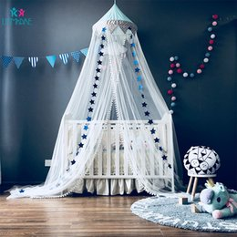 princess kids beds UK - Baby Crib Netting Cotton Children Princess Bed Tent Curtain Mosquito Net Kid Infant Children's room Decoration Baby Bedding Set