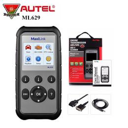 EnginEs transmissions online shopping - Autel MaxiLink ML629 Car Diagnostic Tool OBD2 Scanner for Engine Transmission ABS SRS Full Code Reader Upgrade ML619 AL619