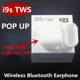 $enCountryForm.capitalKeyWord Canada - i9s TWS Wireless Headphones Bluetooth Earphones Mini Sport Earbuds For apple Android iPhone headphones+ gift silicone protector case